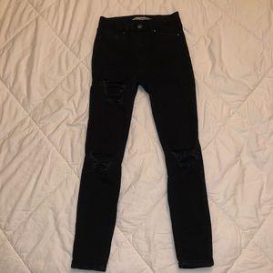 Topshop Hi-Rise Moto Jeans